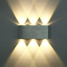 Deckey Modern Warm White 18W High Power 6 LED Up Down Wall Lamp Spot Light Sconce Lighting ConvexMirror LED Wall Sconce Decor Fixture Hall Porch Bulb Light Lamp, http://www.amazon.com/dp/B019NZJJ2M/ref=cm_sw_r_pi_awdm_NtCxxbEPMDZG8