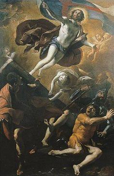 * Ressurreição *   (1622). (by Giovanni Lanfranco ).