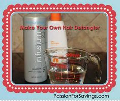 How to Make Your Own Hair Detangler! This is a great DIY Beauty Recipe if your daughter gets crazy tangles!