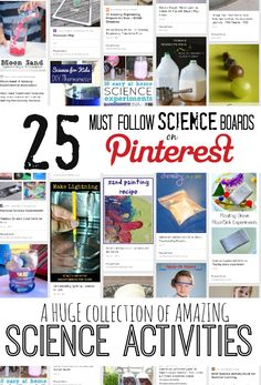 The Best Science Pinterest Boards to find the most AWESOME science activities! NO MORE SEARCHING PINTEREST for hours!