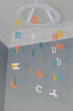 Alphabet Baby Mobile - Letter Nursery