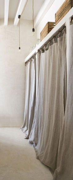 = full length linen wardrobe curtains