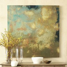 """Clouds At Sunset Giclees by Randy Hibberd 54"""" square"""