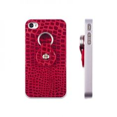 #case #leather #iphone4 #iphone4s #finger360 #carcasa #piel #rojo
