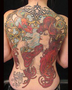 Gorgeous Mucha tattoo