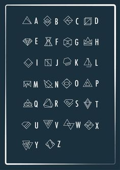 A geometric alphabet – PXL MAD) Source by kerrielegend Alphabet Code, Alphabet Symbols, Sign Language Alphabet, Font Alphabet, Ancient Alphabets, Ancient Symbols, Alphabet Design, Typography Fonts, Hand Lettering