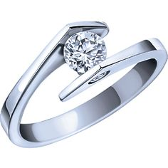 Ben Moss Jewellers 0.43 Carat TW, 14k White Gold Diamond Solitaire Engagement Ring Set ... over budget but a neat set (wedding band not shown).