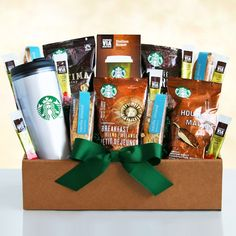 Starbucks On The Go Gift Basket | Buy at All About Gifts & Baskets (http://www.aagiftsandbaskets.com/starbucks_on_the_go_gift_basket.html)