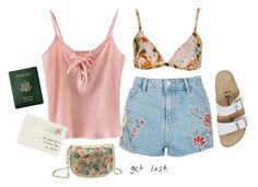 """""""And I'll Miss Your Face Like Hell..."""" by uniquely-peach ❤ liked on Polyvore featuring Topshop, Chicnova Fashion, Royce Leather, Moschino, Deux Lux and Birkenstock"""