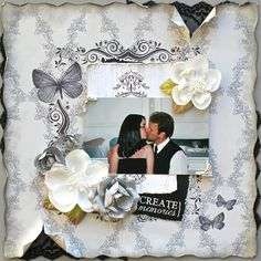 Create Memories (C'est Magnifique) - Scrapbook.com  Love the lace underneath.