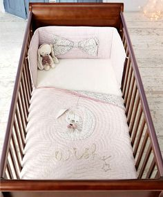 Millie & Boris - Girls Cotbed Coverlet - New Arrivals - Mamas & Papas Bunny Nursery, Girl Nursery, Babies Nursery, Girl Room, Nursery Ideas, Nursery Decor, Beautiful Baby Girl, Baby Love, Baby Stuffed Animals