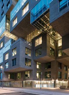 Dnb Banco Sede Mvrdv Oslo Facade Architecture Beautiful Architecture Contemporary Architecture Scandinavian