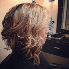 Layered Medium Wavy Haircut