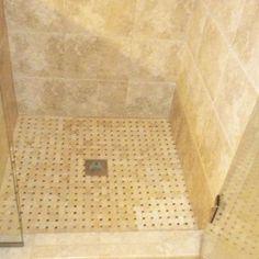 Bath Remodel Tiled Shower Floor
