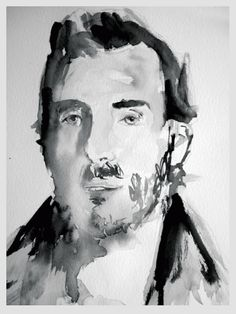 Watercolor Portrait by Lefteris Koulonis Payne's Grey series