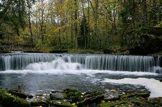 :: Nõmmeveski waterfall. Valgejõgi River, Lahemaa, Estonia - © Arne Ader / Loodusemees