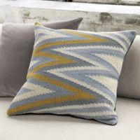 "CB2 - October Catalog - Groove 23"" Pillow With Down-alternative Insert"