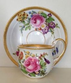 Vintage teacup and saucer by tracie