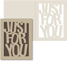 Silhouette Design Store - View Design #15544: 'just for you' card