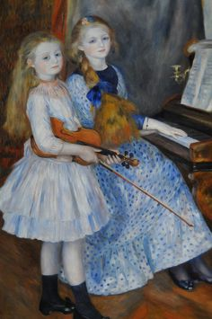 daughters of catulle mendes Pierre Auguste Renoir art for sale at Toperfect gallery. Buy the daughters of catulle mendes Pierre Auguste Renoir oil painting in Factory Price. Pierre Auguste Renoir, Claude Monet, Artist Canvas, Canvas Art, Large Canvas, Canvas Size, Canvas Prints, August Renoir, Renoir Paintings