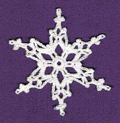 Ravelry: Double Pillars Snowflake pattern by Noel V. Nevins