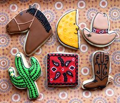 Custom Western Themed Cookies 1 Dozen by SugarSanctuary on Etsy, $36.00 plus shipping!