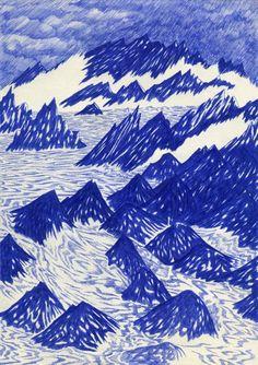 Récifs 21 x 29,7cm, ink on paper, Kevin Lucbert, 2014.