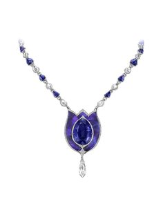 Bogh-Art 41.75ct sapphire inlaid into opal necklace (£POA).