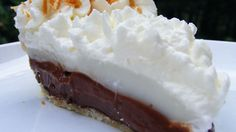This pie is a chocolate coconut lover's dream, very rich and delicious.
