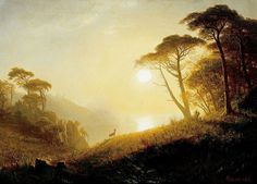Albert Bierstadt (1830-1902), Scene in Yosemite Valley.
