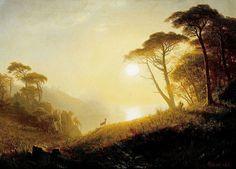 Albert Bierstadt (1830-1902), Scene in Yosemite Valley.