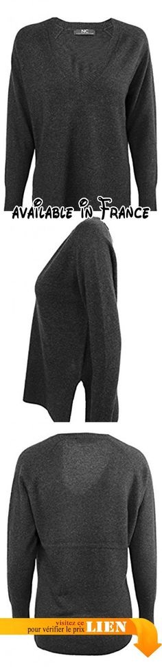 B06XDK3441 : Nice Connection - Pull - Femme - gris - 40 cm.
