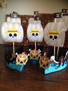One Piece Birthdays, One Piece Theme, 24th Birthday, Pirate Party, Party Time, Halloween, Geek Stuff, Anime, Presents