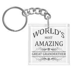 World's Most Amazing Great Grandfather Key Chain