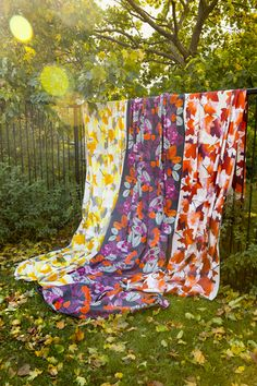 Vaahtera Fabric    Pentik Autumn 2017   Designed by Minna Niskakangas, Vaahtera (Maple) pattern captures the strong and impressive autumn glow. Vaahtera charms in yellow and orange colours. Made of 100 % cotton.