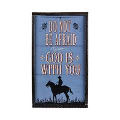 Montana Silversmiths Do Not Be Afraid Sign 70931
