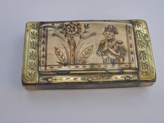 Early 19th Century Napoleon Snuffbox | From a unique collection of antique and modern more folk art at https://www.1stdibs.com/furniture/folk-art/more-folk-art/