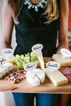Invite Friends for Wine and Cheese Before Dinner Reservations | OMG Lifestyle Blog | Wood Cheese Tray