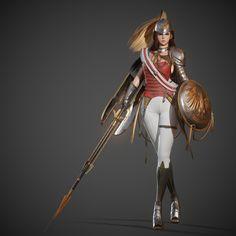 ArtStation - Valkyrie, jisu jeon Kim Bum, Warhammer Fantasy, Military Fashion, Military Style, 3d Character, Concept Art, Dancer, Sci Fi, Wonder Woman