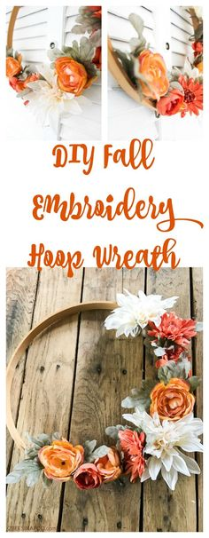 Craft Gifts For Father - Fantastic Present Strategies Fall Embroidery Hoop Wreath. The most effective method to Make And Embroidery Hoop Wreath. Diy Wreath, Wreath Fall, Tulle Wreath, Burlap Wreaths, Summer Wreath, Mesh Wreaths, Wreath Crafts, Wreath Ideas, Floral Hoops