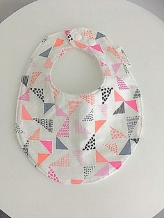 Your place to buy and sell all things handmade Pink Grey, Grey And White, Bandana Bib, Bandanas, Baby Accessories, Baby Bibs, Cool Stuff, Stuff To Buy, Shapes