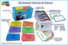 Character Cards for theatre games and improv exercises.