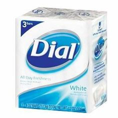 DIAL WHITE SOAP YOU GET ALL DAY FRESHNESS 3 -4 OZ BAR