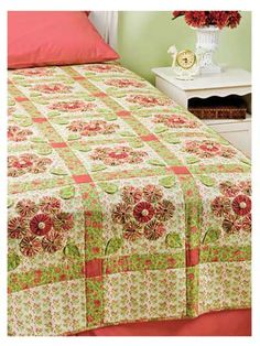 In Bed Quilts Just Your Size , you'll find 8 quilt patterns that you can adjust to fit a crib/throw, twin, double, queen or king size bed. Learn how to quilt: A yo-yo quilt pattern A pathway quilt pattern A Jacob's ladder quilt pattern And more. Colchas Quilting, Quilting Projects, Flower Quilts, Fabric Flowers, Yo Yo Quilt, Cute Quilts, Quilt Bedding, Bed Quilts, Book Quilt
