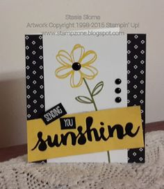 Stampin' & Scrappin' with Stasia: Sunshine Sayings and Wishes Hand Made Greeting Cards, Greeting Cards Handmade, Get Well Cards, Cool Cards, Diy Cards, Creative Cards, Stampin Up Catalog, Card Kit, Flower Cards