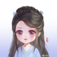 Cute Cartoon Images, Cute Cartoon Girl, Anime Girl Drawings, Anime Art Girl, Night Scenery, Anime Kimono, Cute Baby Wallpaper, Diy Canvas Art, Cute Chibi