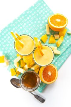 This Cold Buster Smoothie for Toddlers + Kids is loaded with vitamin C, natural electrolytes and probiotics that will boost the immune system, aid in digestion as well as provide extra hydration. PLUS - this delicious smoothie makes great popsicles which will help soothe sore and raw throats. #healthysmoothie #toddlerrecipe #kidsmoothie #cold #vitmainc #sorethroatpopsicles #naturalhomeremedies Toddler Smoothies, Smoothies For Kids, Healthy Smoothies, Healthy Snacks, Healthy Store Bought Snacks, Natural Electrolytes, Yummy Smoothie Recipes, How To Make Smoothies, On The Go Snacks