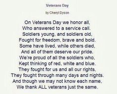 Veterans Day Shout Out
