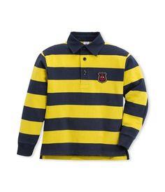 Poloshirt langarm für Jungen