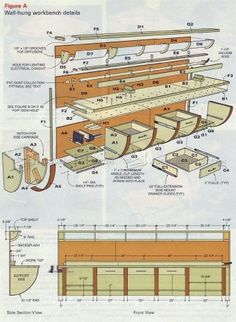 #1645 Wall Hung Workbench Plan - Workshop Solutions Plans, Tips and Tricks